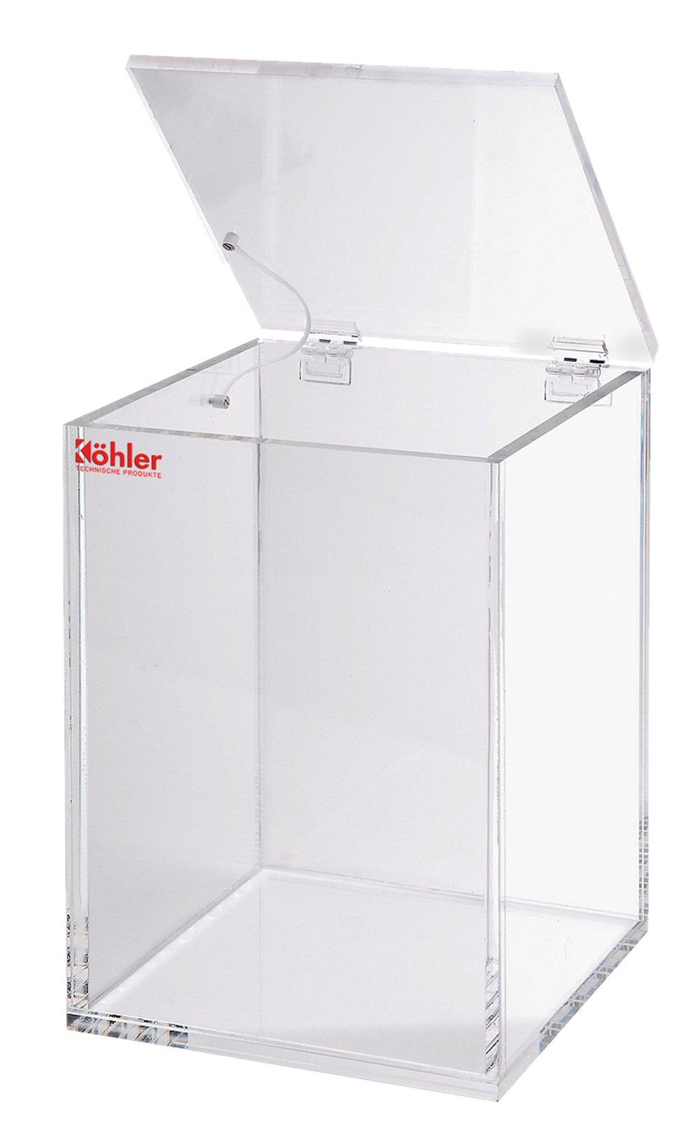 Beta-Abfallentsorgungsbox Acryl - Beta-Abfallentsorgungsbox Acryl 80x80x130mm