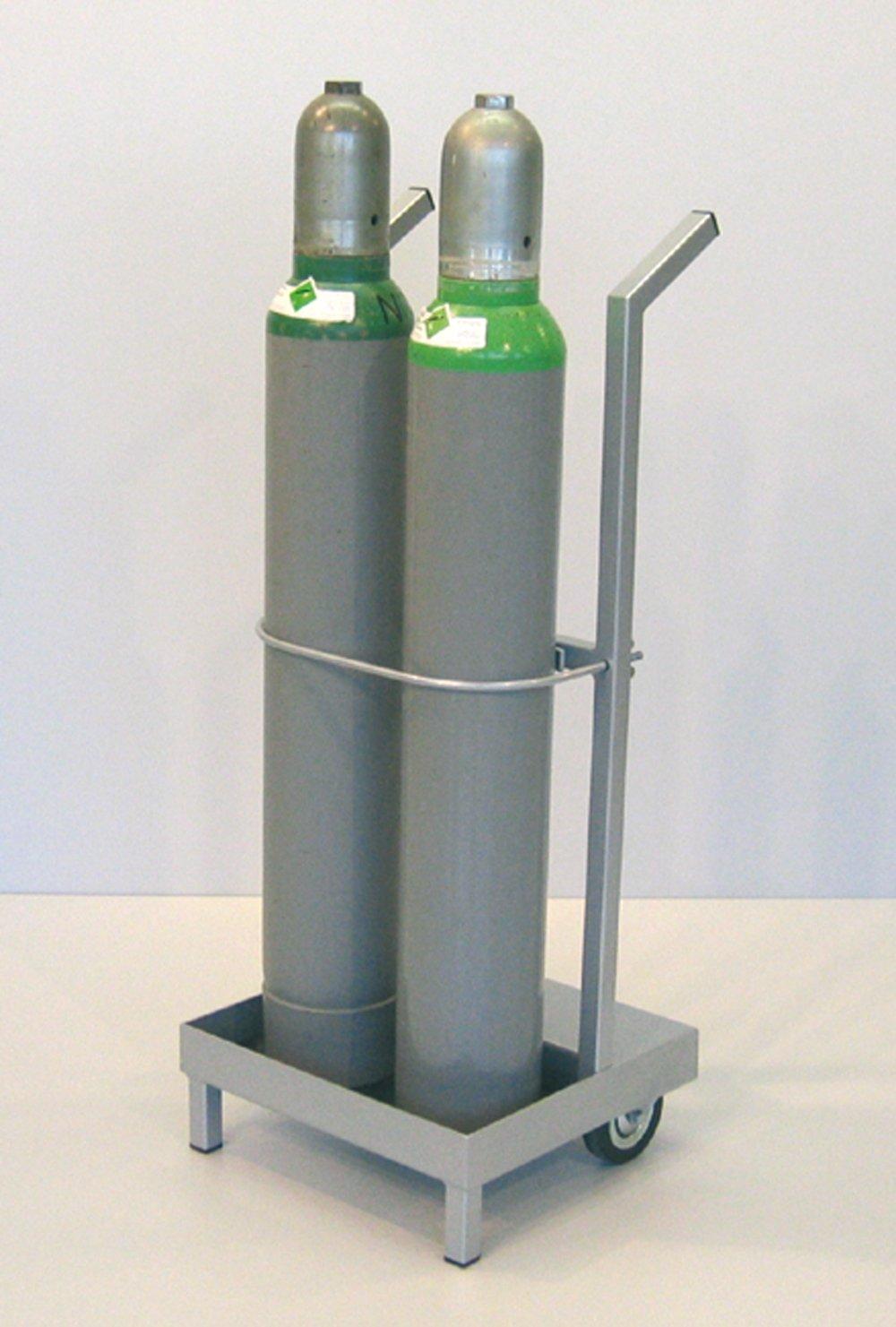 Unilab Flaschenwagen f. 2 Stahlflaschen - Unilab Flaschenwagen f. 2 Stahlflaschen