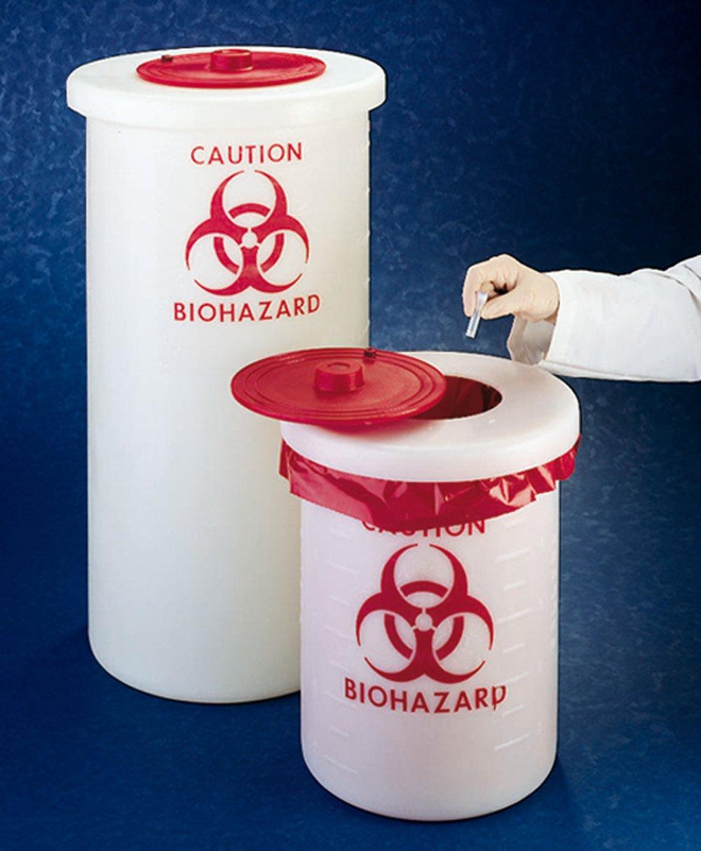 Abfallbehälter Biohazard PP - Abfallbehälter Biohazard PP 5,5l 210x270mm