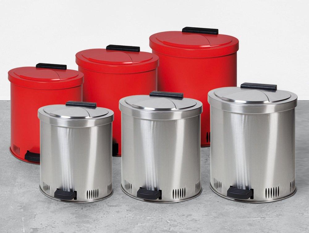 Abfallsammler Schwingdeckel - Abfallsammler mit Schwingdeckel Typ 1 Edelstahl 440x425x490mm 35 l